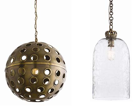 Arteriors sweet peach im in love with these white and brass pendants 300 made of hand hammered iron aloadofball Choice Image