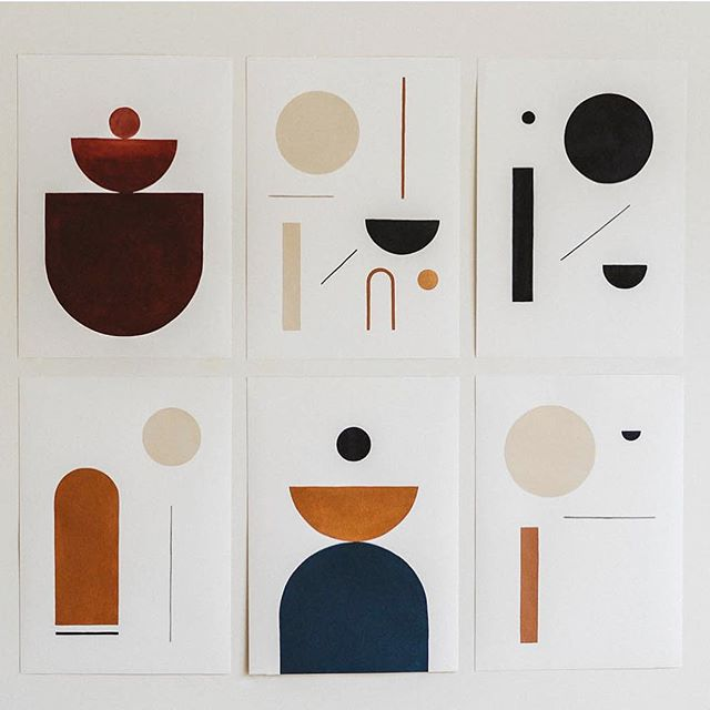 Archival prints by @bobbyclark____  #aussieartist #shapeandform #modernart