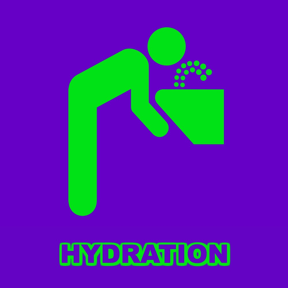 Get Hydrated!   Thirst can mask itself as hunger and being short on water can lead to everything from low energy to weak muscles and headaches! Get your H20!