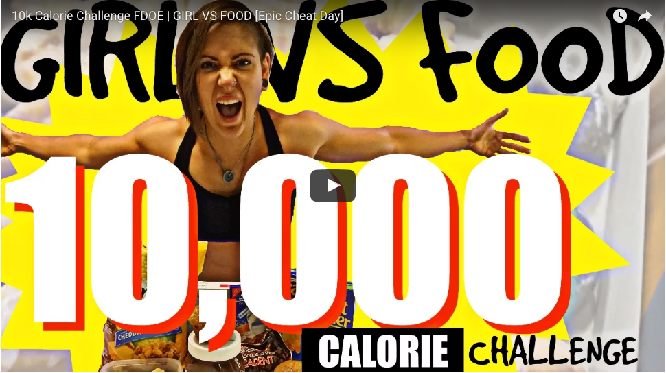 10k Calorie Challenge FDOE | GIRL VS FOOD [Epic Cheat Day]