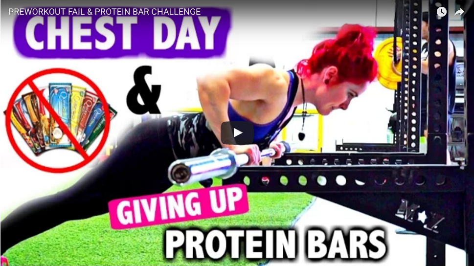 PREWORKOUT FAIL & PROTEIN BAR CHALLENGE