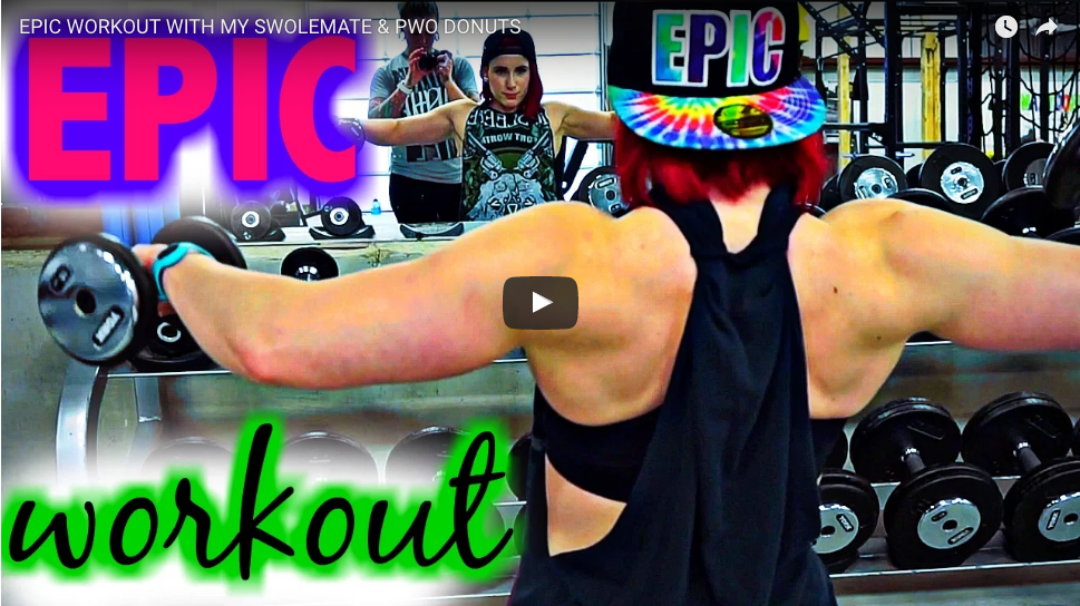 EPIC WORKOUT WITH MY SWOLEMATE & PWO DONUTS