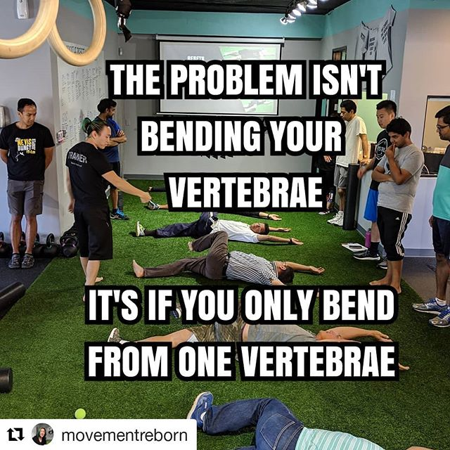 #Repost @movementreborn (@get_repost) ・・・ We are taught neutral spine. Yes super important when you're lifting weight. .  But we also need to teach the spine that it's okay to not be in neutral when we are not lifting heavy. .  Our spine is designed to flex, extend, side bend and rotate. If we start losing the ability of any of these movements at any of the vertebrae, things go wrong. Over time, we end up only bending and rotating from 1 or 2 vertebral junctions. Which is what primarily causes bulging and herniated discs. .  This is why I love rolling. It teaches the spine to move and articulate one vertebrae at a time, all the little muscles that are dormant start waking up again. It's something so simple, so primal, we did this without any coaching when we were babies. This gives the spine space, it's a compression, decompression and rotational movement all in one. .  Do this as often as you can and feel the difference. #originalstrength #DNS #rolling. . . *Link in bio* to schedule your free consult and learn how to roll with me 👌🏻 #movement #prehab #rehab #injuryprevention #functionaltraining #functionalfitness #sandiegopersonaltrainer #sandiegogyms #fitness #trainer #movementculture  #motivation #fitnesstips #calisthenics #correctiveexercise #reset #mensfitness #womansfitness #painmanagement #painrelief
