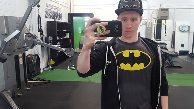 All Batman'd up thanks to @beastmodemanda!  I think I've done an alright job communicating my love of Batman haha