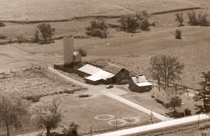 THE ORIGINAL FARM AND BUILDINGS IN 1958