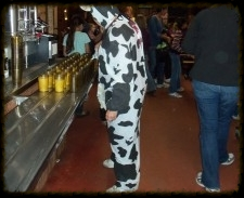"Megan is ""udderly"" adorable serving milk!"