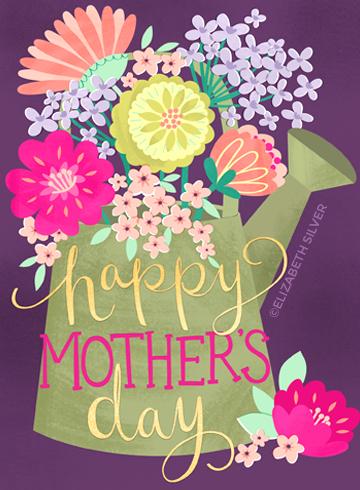 Mom's Garden Greeting Card ©Elizabeth Silver