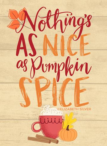 Pumpkin Spice Design ©Elizabeth Silver