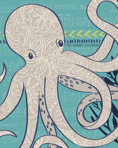 Octopus Paisley ©Elizabeth Silver