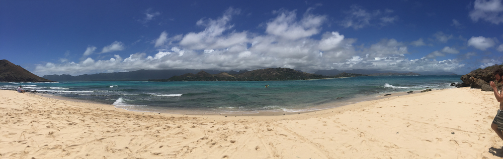 The beach on Moku Nui is gorgeous!