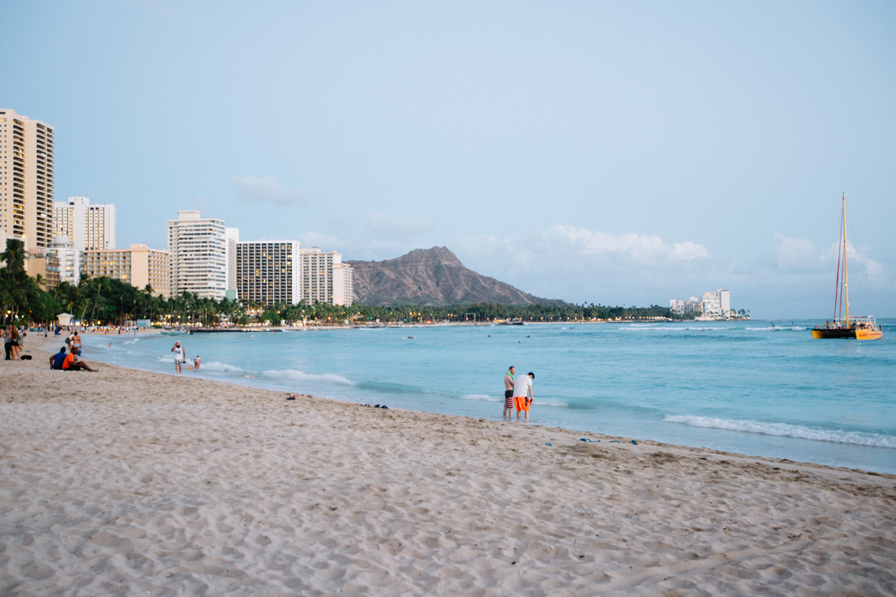 We only went to Waikiki once, and that was too many times.