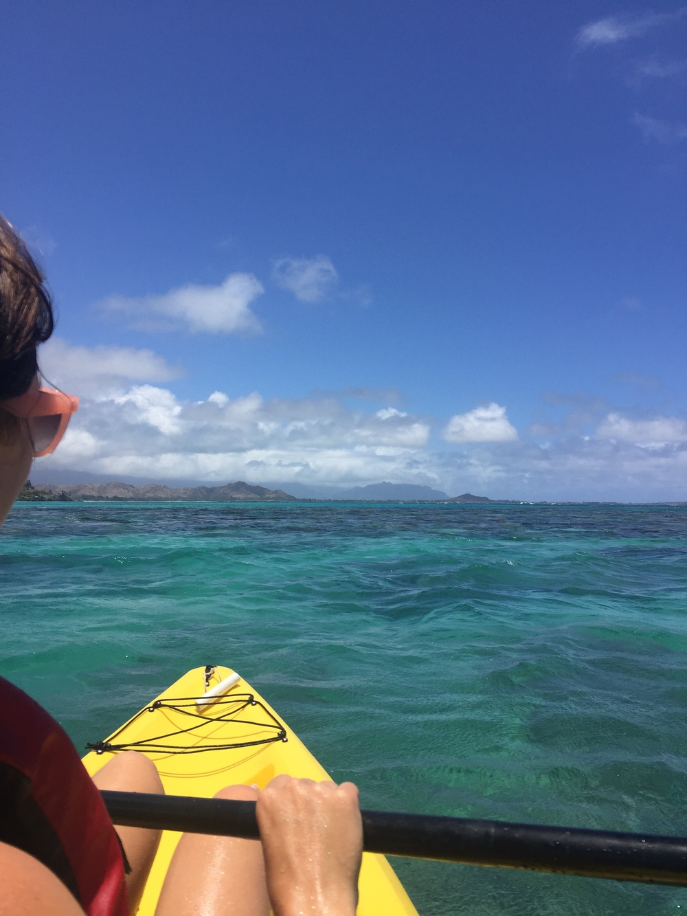 Kayaking out to the Mokes (Mokulua Islands).