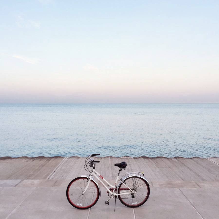Biking is my favorite activity!  I like to take an hour-long ride every evening to clear my head when I'm finished working.  Sometimes I rap along to Missy Elliott really loudly while I bike.