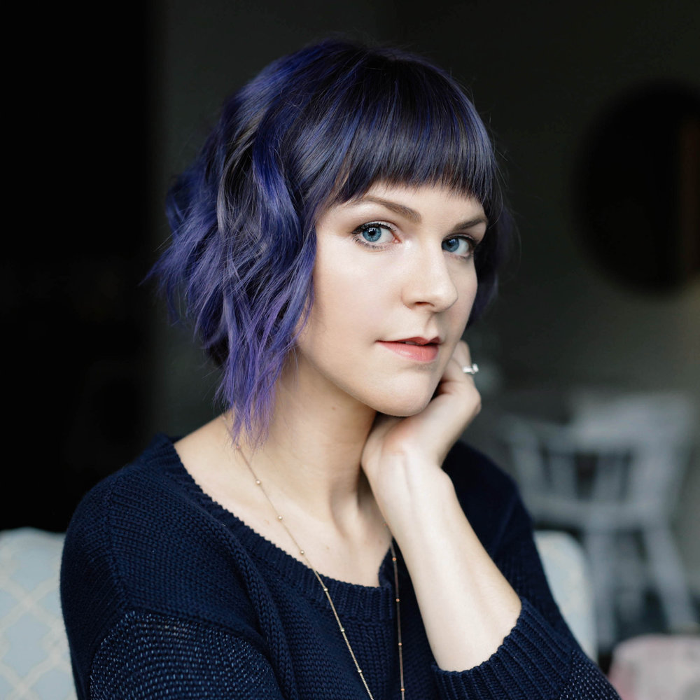I change my hair color around a lot, like Clem in  Eternal Sunshine .  It's currently purple!