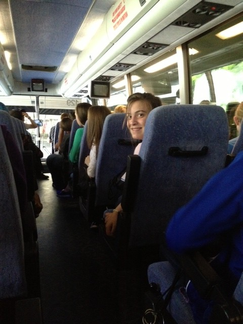 On the bus from the airport to Mt. Vernon