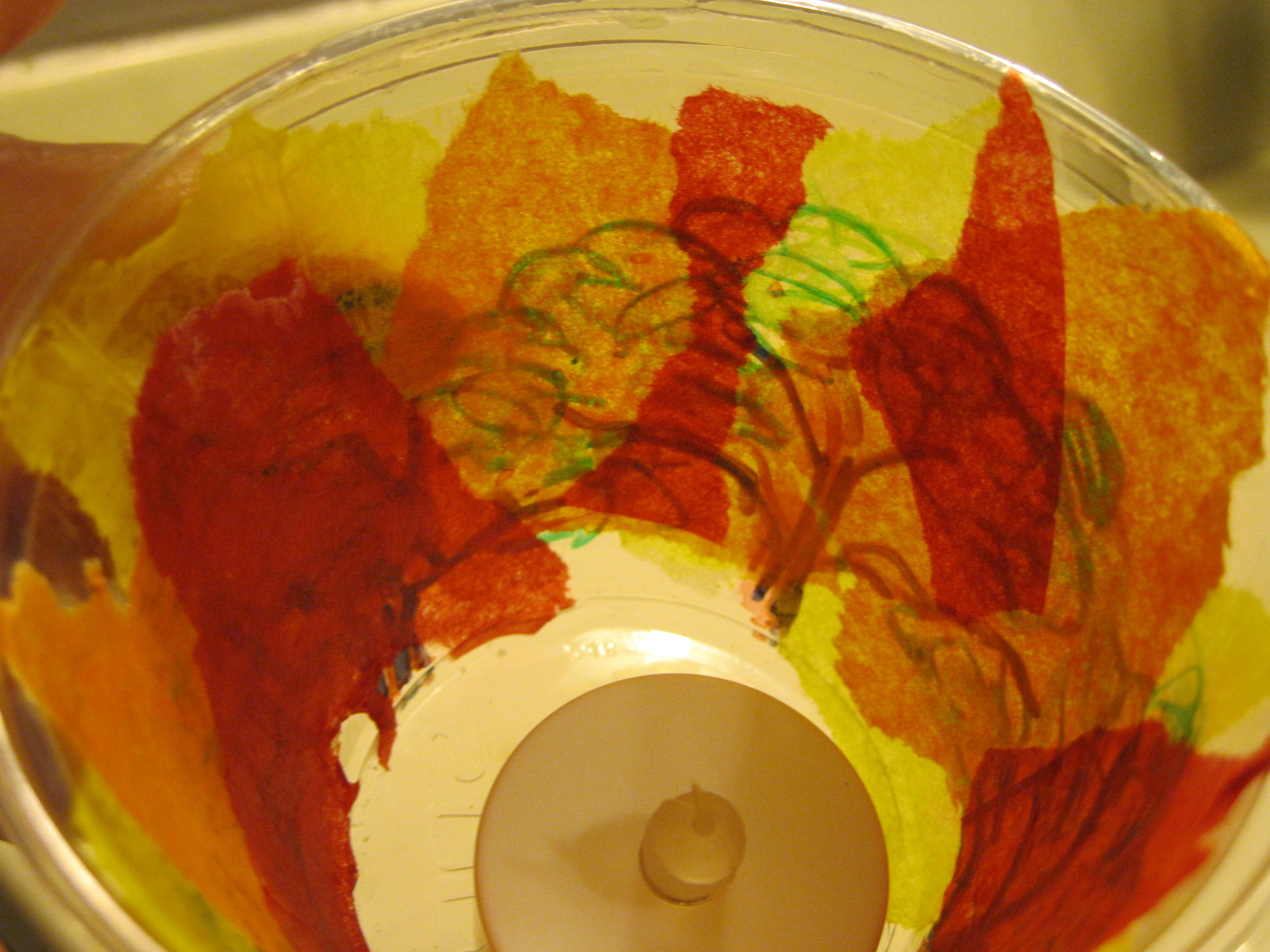 Layer tissue paper to create flames