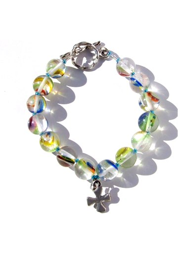 Marblebeadcrossbracelet