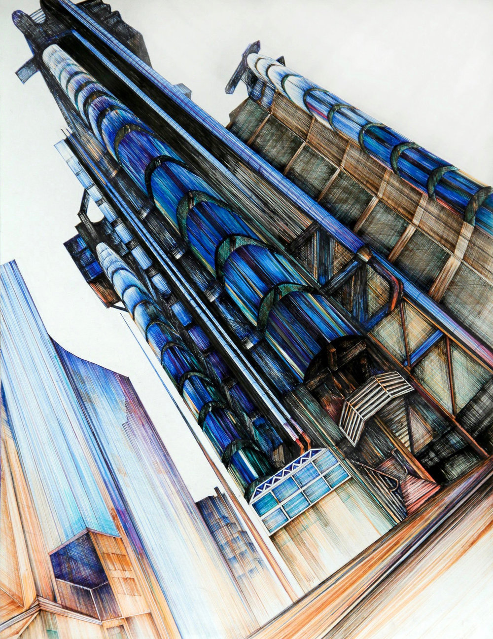 Lloyd's of London - 18' x 24' Every line in pen and ruler
