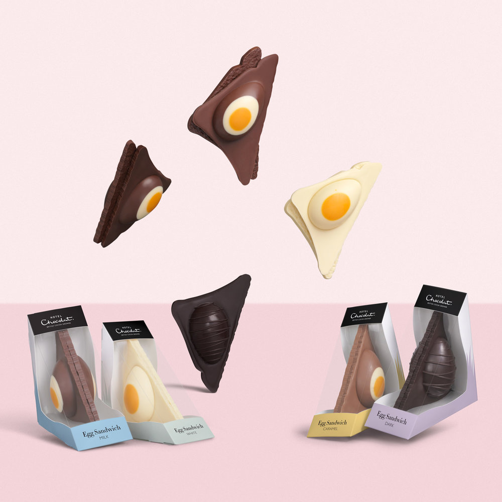 Still Life Photography Hotel Chocolat Easter Egg Sandwich Packs - Lux Studio
