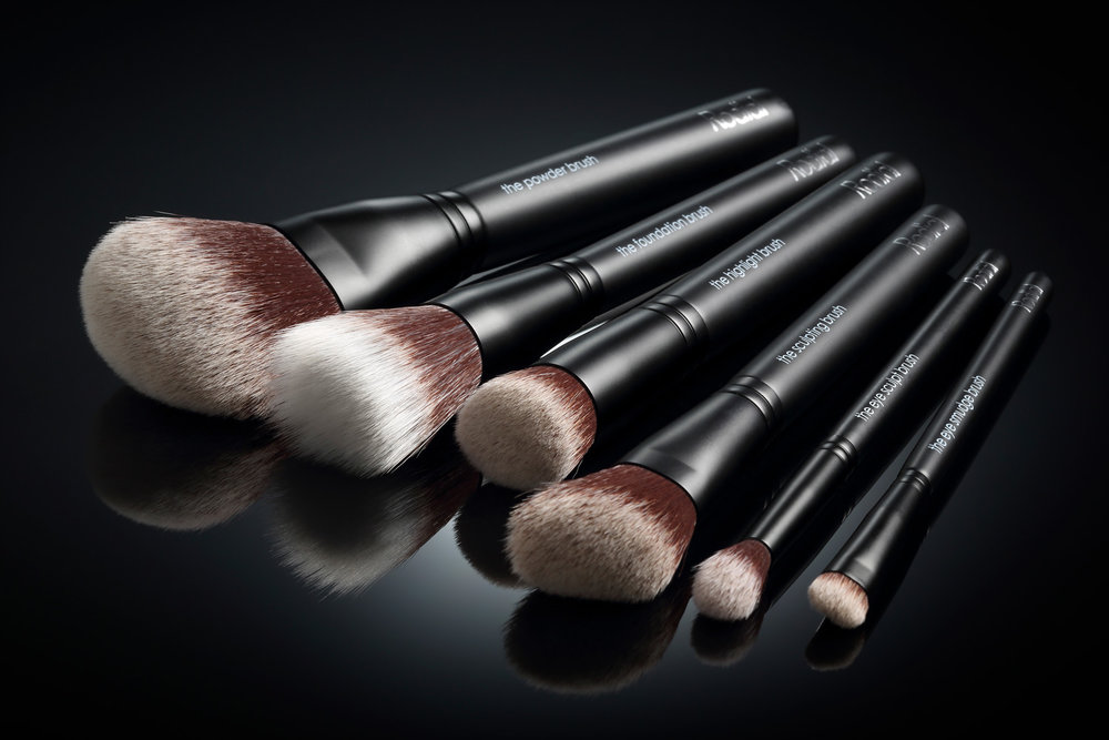 Cosmetic Photography Selection of Cosmetic Brushes - Lux Studio