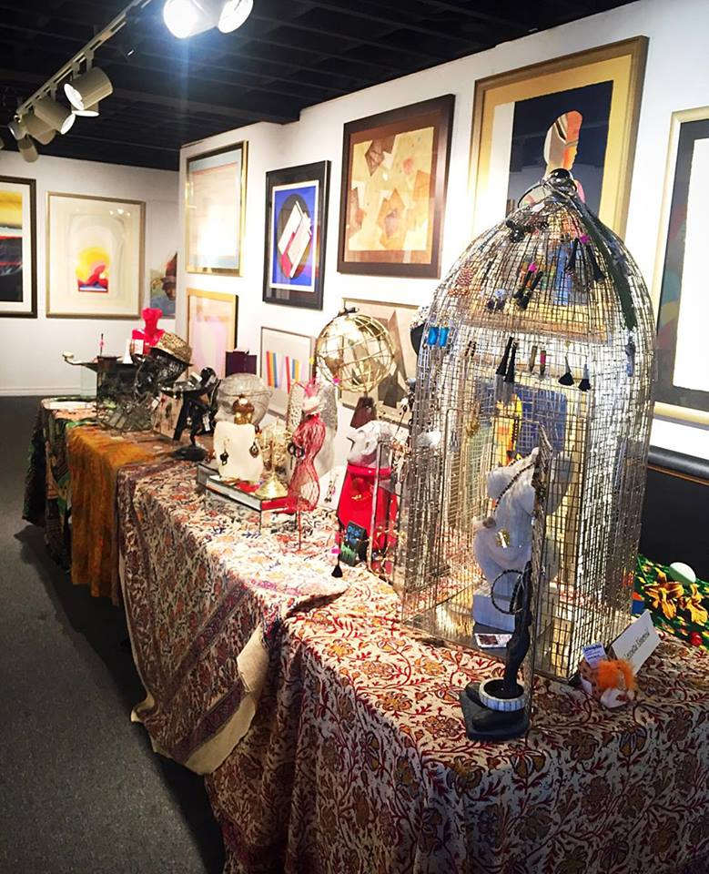 Jewelry artists set up stations at the gallery and displayed their one-of-a-kind pieces!