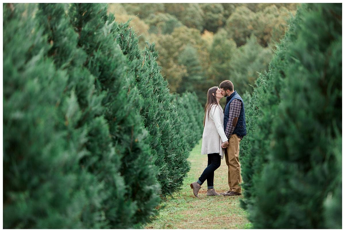 Casey + Chris Christmas Tree Farm Engagement - York, SC — Aaron ...
