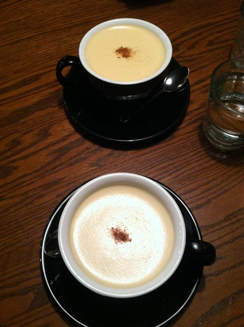 Regal rooibos lattes at Tomato Pie Cafe