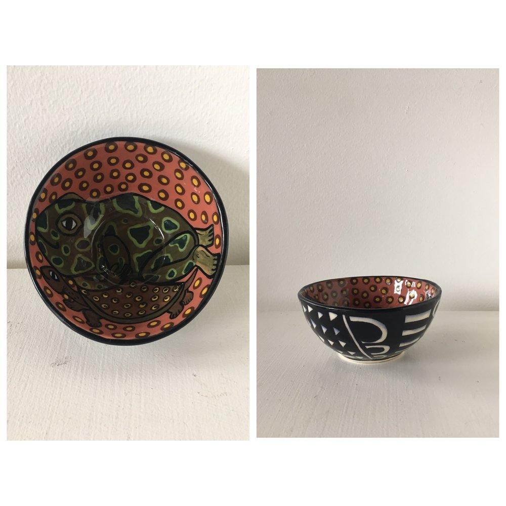 Frog & Turtle Bowl - SOLD