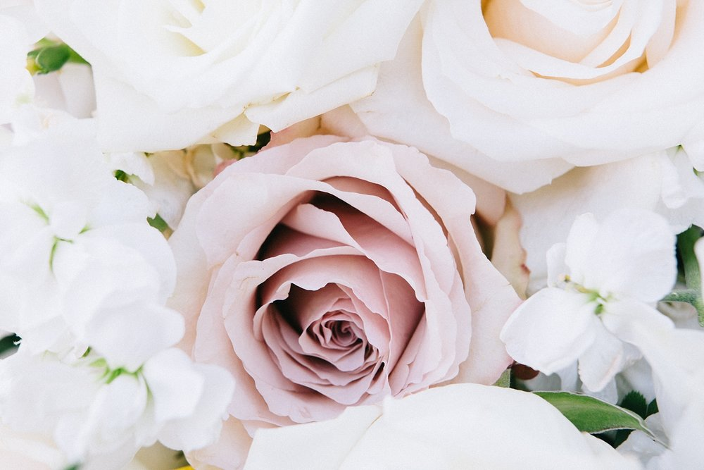 Sapphire and Lace utilized the most divine roses in blush, pink, and lavender in their floral designs.