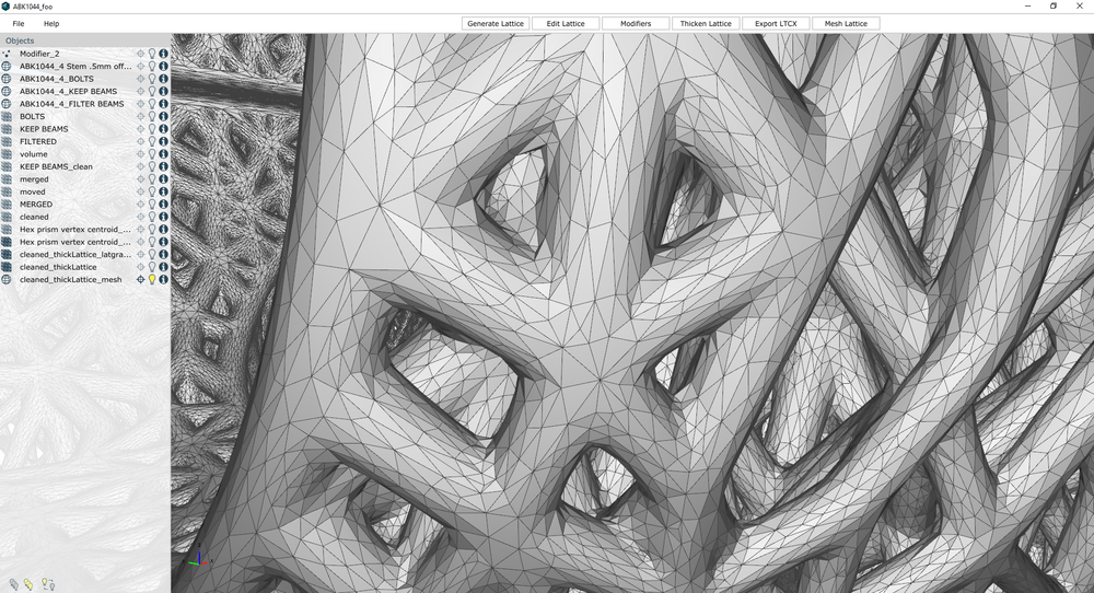 Meshed lattice