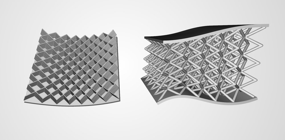 Single and Dual-Surface Conformal Lattices