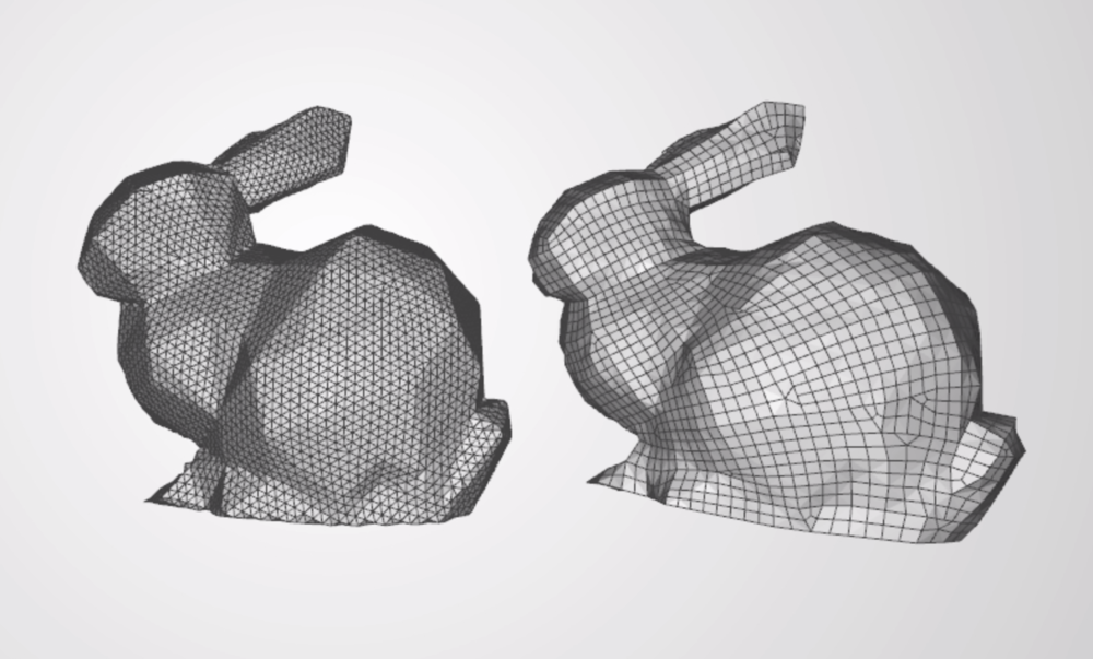 Change the topology of a mesh with the Remesh Tool
