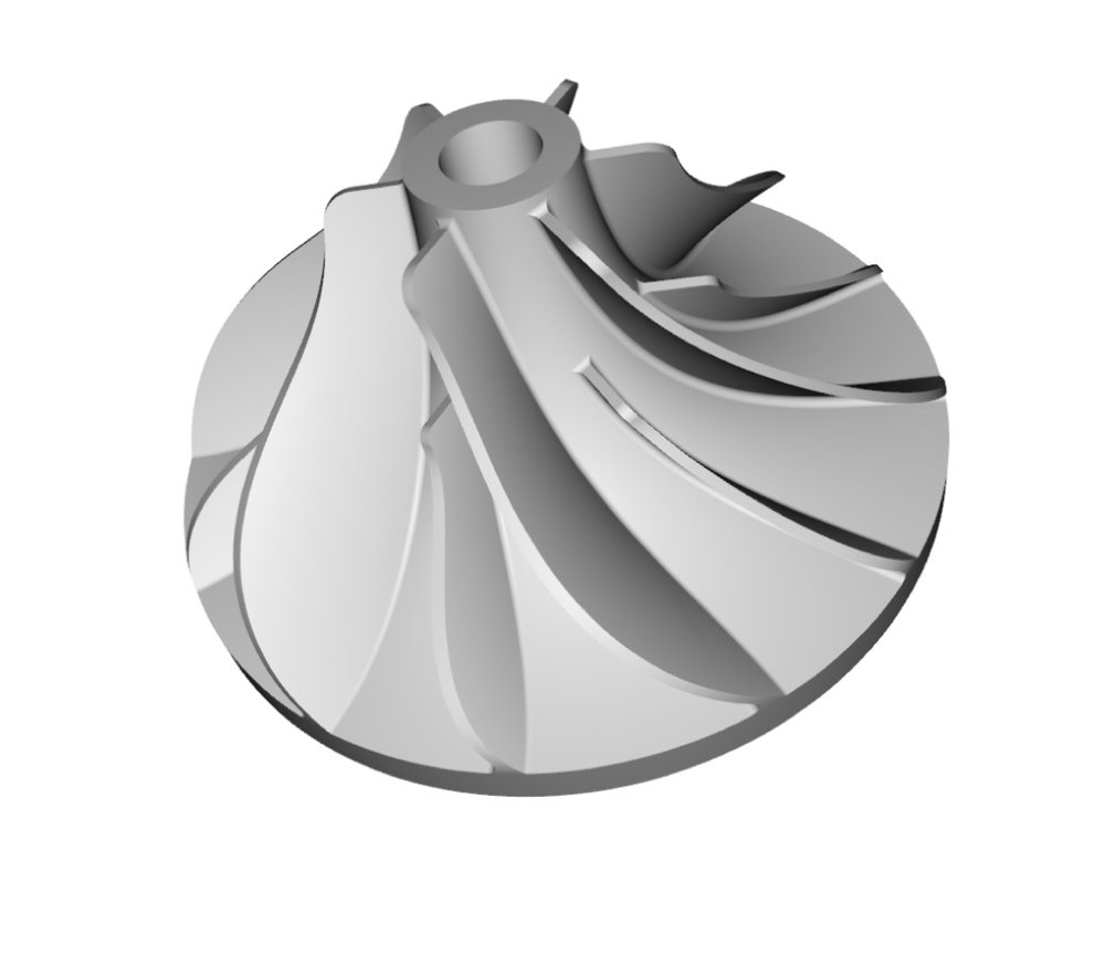 Design the infill of an impeller while maintaining a known  center of mass. This tutorial demonstrates the following  tools:  ● 2-Surface Conformal Lattices  ● Transform  ● Lattice Size Optimization