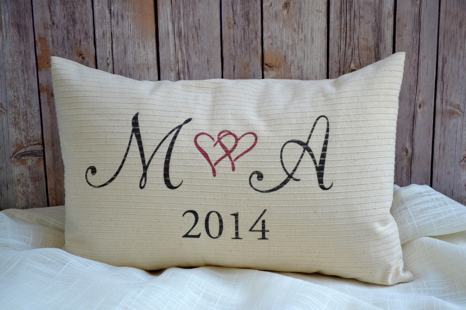 DSC 3325 FeatherHen Personalized Pillow cotton anniversary 2nd anniversary  wedding gift christmas gift idea hard to buy 4f3ebba59