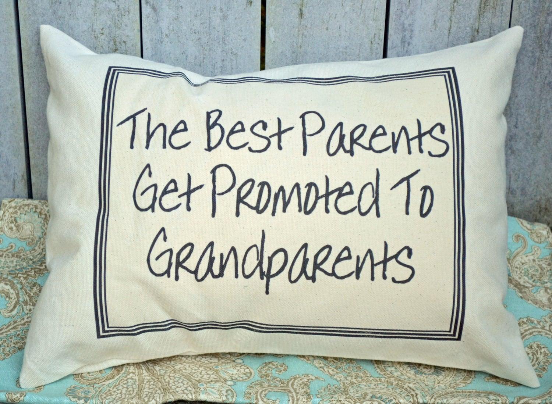grandparent pregnancy reveal the best parents get promoted pillow