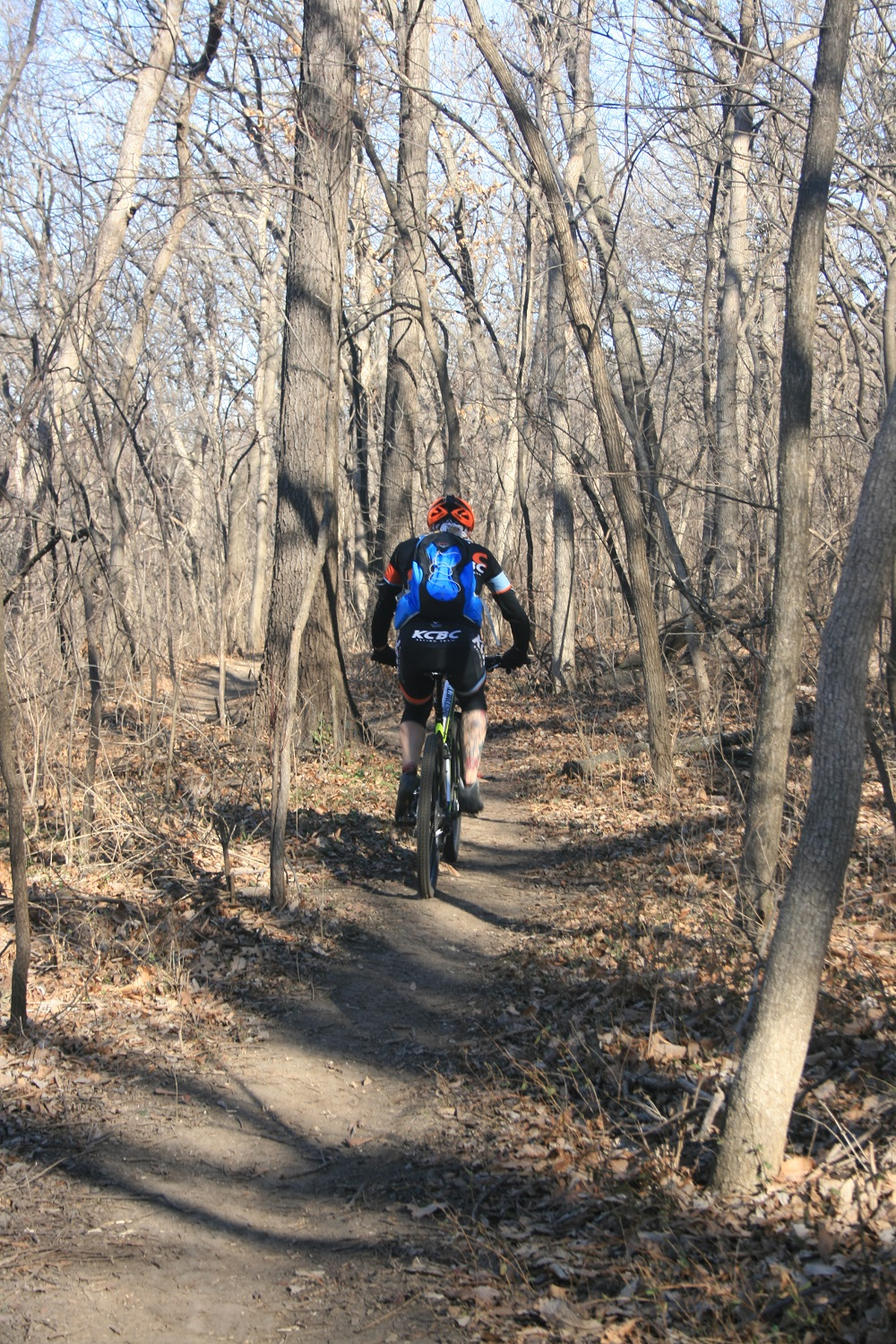 Trail Bike on the Rozarks Trail in Rosedale