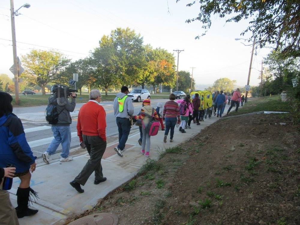 Walking School Bus to Frank Rushton Elementary