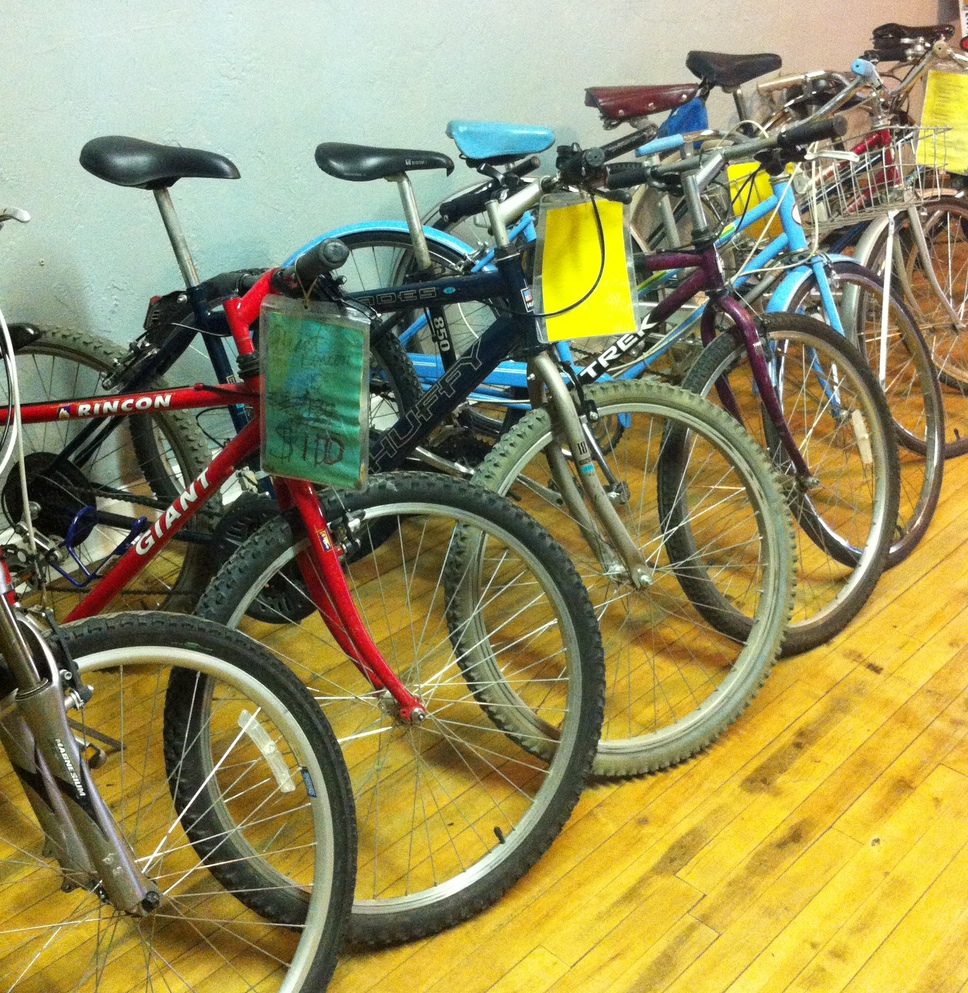 Recycled Bikes at Revolve Bike Shop in KCK