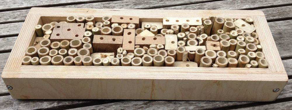 Bug hotel bought from Rowan Cambridge. They make them in all shapes and sizes.