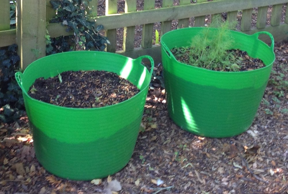 Can grow plants - and crops - in simple tubs (make sure they have drainage)