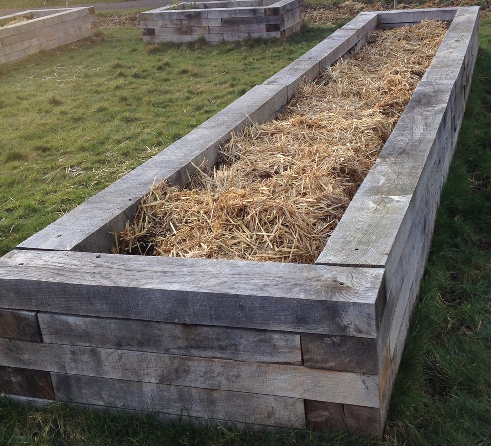 Our raised beds have sunk in height so we are re-using some of the straw bales and will top them up with compost and soil conditioner soon. Looking forward to planting them up again.