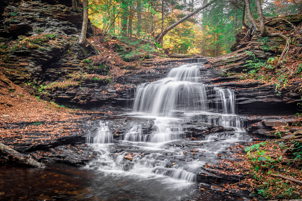 Ricketts Glen - 24mm, f/9.0, .6 sec, 400 ISO