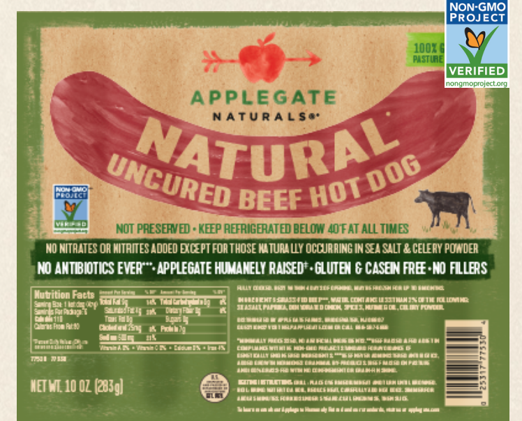 Applegate Hotdogs - My kid's favorite item, of course! I do have to admit I love them just as much. We usually eat hot dogs for lunch once a week, it's something we always have on hand. We buy these at Terra or Walmart Super Center(Click Product Title for link to purhcase.)