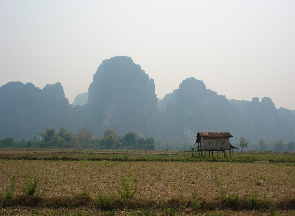 Laos - the unique and stunning beauty of the limestone karst mountains is characteristic of the central and northern part of the country.