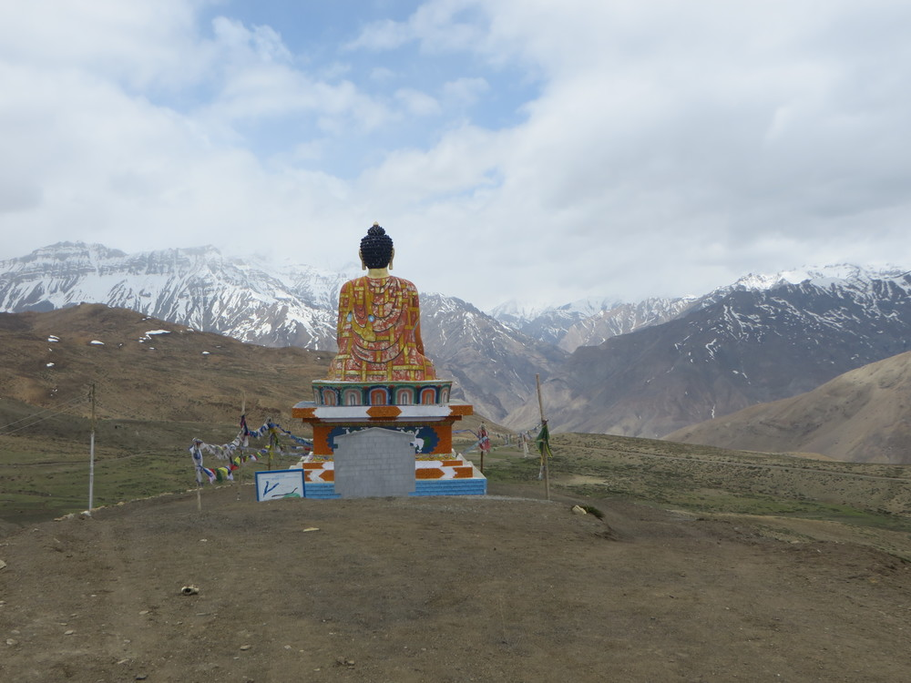 25) Buddha looking out across Spiti Valley (hamlet of Lasa) - Himachal Pradesh, India