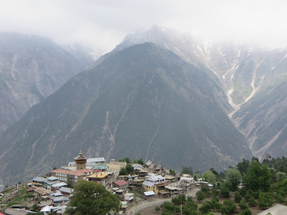 Kapla,India - a staggeringly beautiful setting where the Kinnauri people share the beliefs of both Hindu and Buddhism. The village is surrounded by towering mountains including Mount Kinnaur Kaliash a sacred mountain worshiped by both religions.