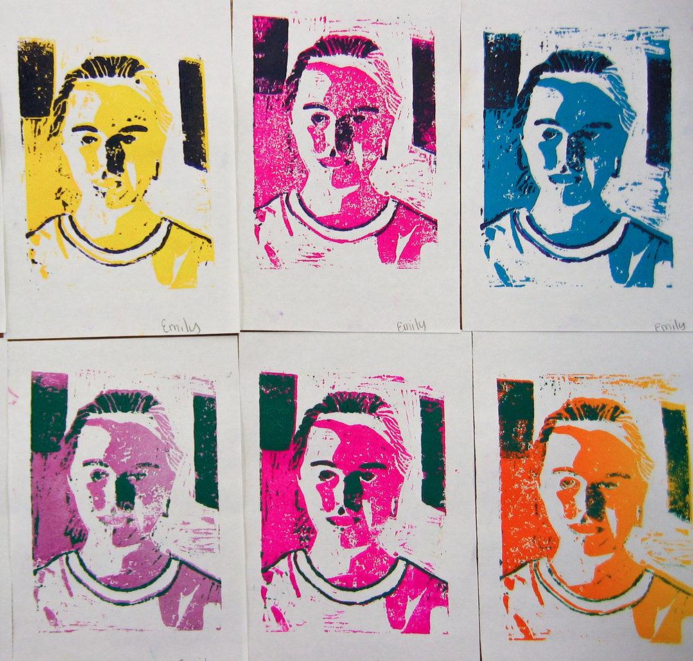 Self Portrait Reduction Print