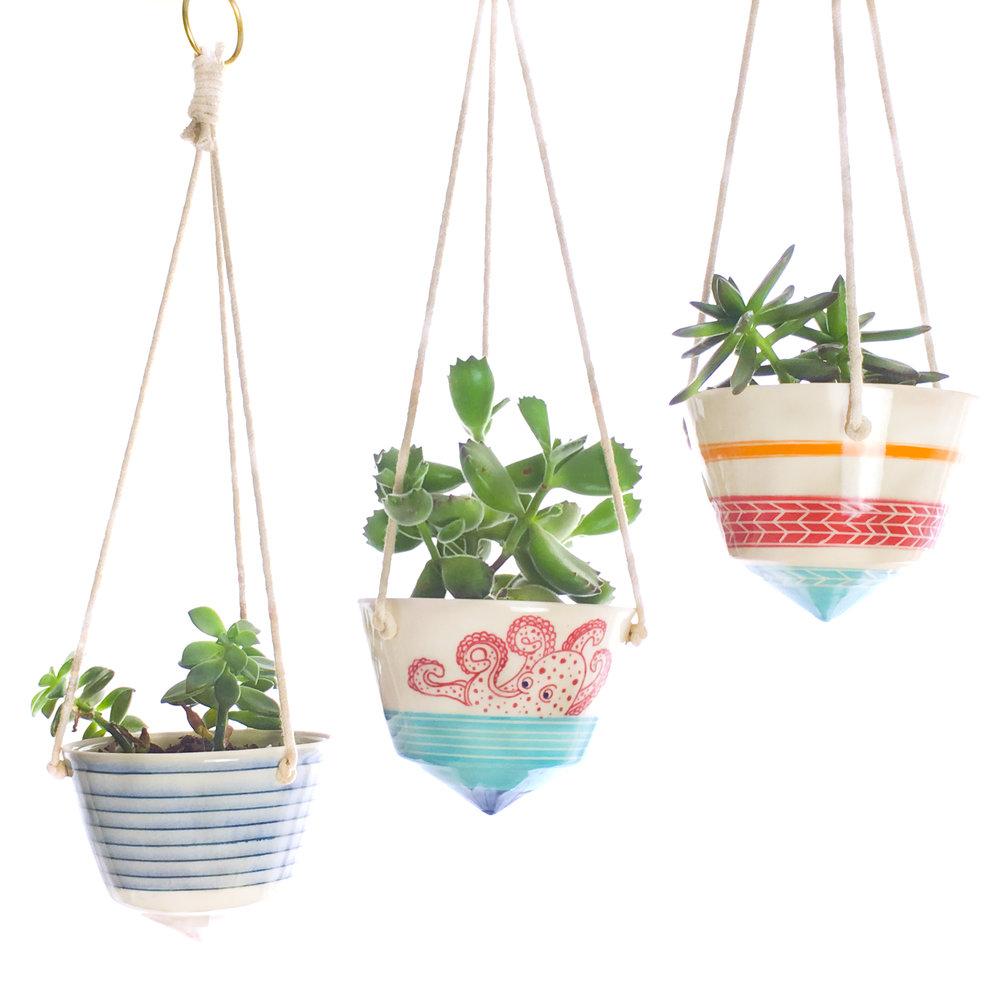 C&M Ceramics Mini Planters