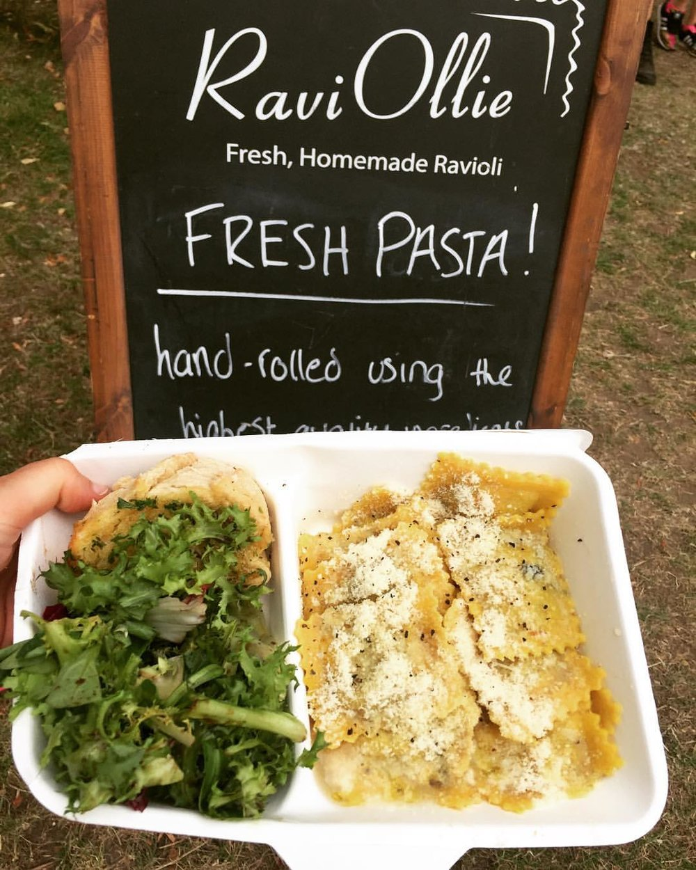 'So happy to find some fresh homemade food at Lovebox Festival' - East london girl
