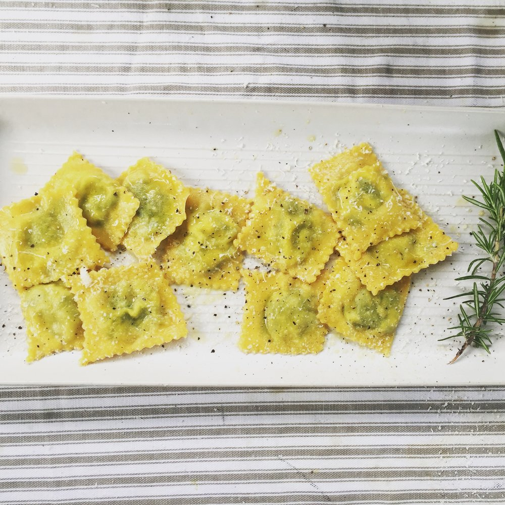 """This chef inspired, fresh homemade ravioli is in a class of its own"" - Brande Marketing"